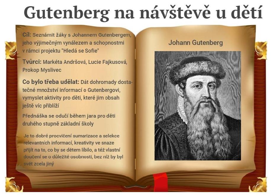 Gutenberg pro Hledá se Sofie